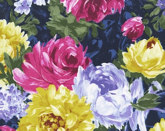 Blue Floral Poetry in Motion Fabric - Michael Miller - DC7919