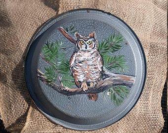 Owl pie plate