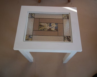 Table with built-in stained glass.