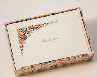 Classic Florentine Thank You Cards Italian Letterpress