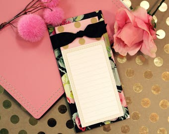 Anna Griffin List  Pad with Bow Grace Black Collection