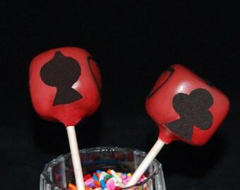CARD GAMES Cake Pops, Game Night Cake Pops, Casino Cake Pops, Playing Cards Cake Pops