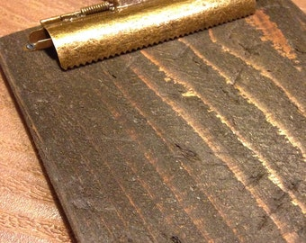 Rustic Style Brass Clipboard Clip - Old Fashion Antique Style Clip - Classic Style Clip - Domed Clipboard Clip