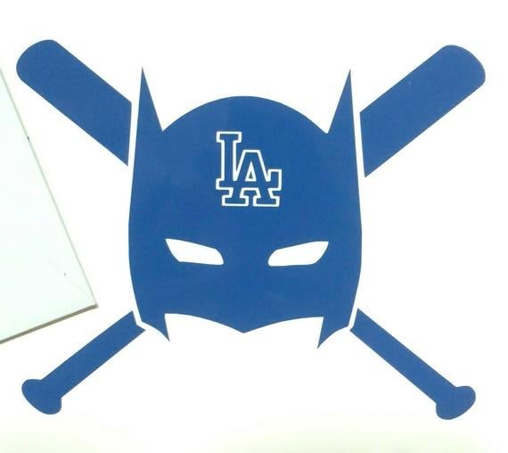 Batman la dodgers vinyl decal die cut sticker los angeles