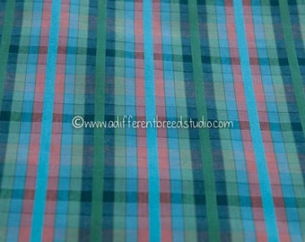Mad About Plaid - Vintage Fabric Multi-Colored Checked 35 in wide 50s