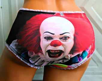 Pennywise the Clown inspired Panties Lingerie underwear Neon Harlequin