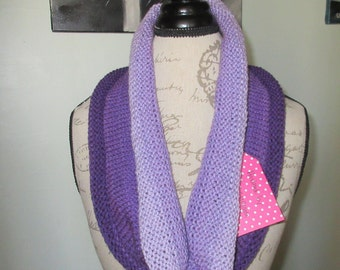 violet / purple ombre circle scarf