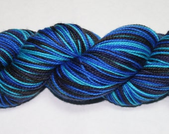Depths of Space Self Striping Hand Dyed Sock Yarn