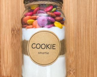 DIY Chewy Cookies - 500ml jar, Baking Mix, chocolate chip, reeces peanut butter, smartie