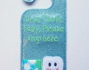 Tooth Fairy Door hanger - LIGHT BLUE