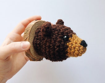 Bear Faux Taxidermy, Crocheted