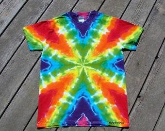 Rainbow Web Tie Dye Tee - Adult (Small) Tye Dye Radio Wave