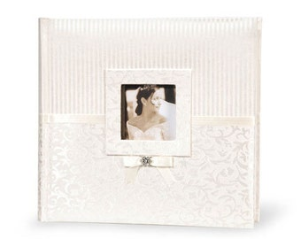 Gorgeous Ivory Fabric Dual Design Photo Album for Wedding, Engagement, Anniversary or Party