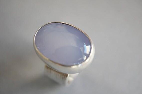 Light Blue Chalcedony ring