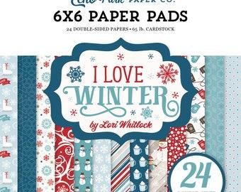 Echo Park Paper I LOVE WINTER 6x6 Scrapbook Paper Pad