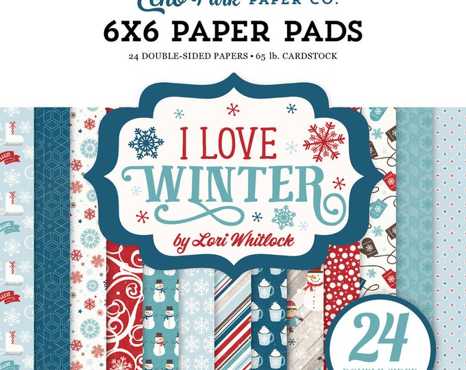 Echo Park Paper I LOVE WINTER 6x6 Scrapbook Paper Pad