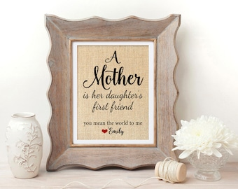 Mother of the Bride Gift from Daughter Gift for Mother of the Bride A Mother is Her Daughters First Friend Mothers Day from Daughter Gift