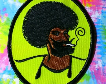 """Vintage """"1970's Zig Zag Guy"""" Embroidered Iron -On Patch"""