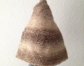 Boho Hippie Elf Whimsical Wool Soy Warm Crochet Beanie Hat Baby Child