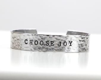 Choose Joy - Choose Joy Jewelry - Inspiration Jewelry - Motivational Jewelry - Quote Bracelet  - Inspiration Bracelet - Happiness jewelry