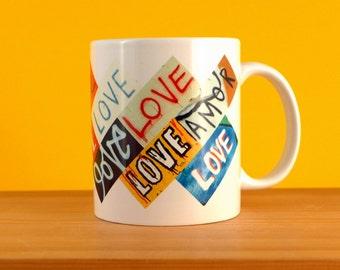 Love | Street Art Mug | Mug For Him | Collections of Collections | Valentines | Urban Art | Graffiti Mug | Gift Idea | Love Heart Mug