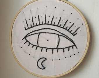 Witch Eye Embroidered Wall Hanging