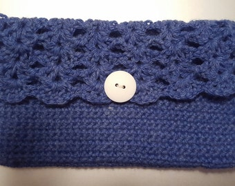 Crocheted Clutch/Purse/Cosmetic Pouch