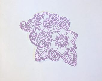 Henna paisley decal, paisley floral decal, vinyl decal, delicate decal, mehndi decal, Paisley decal, Henna decal, Floral decal, Car decal,