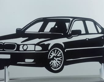BMW E38 metal sign decorative plaque