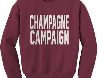 Champagne Campaign  Adult Crewneck Sweatshirt