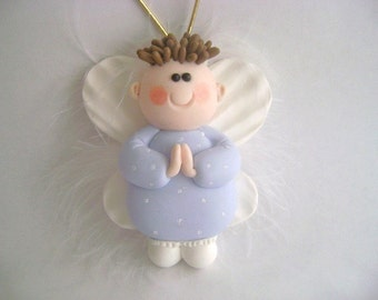 Guardian Angel Ornament Kids Ornament Birthday Baby Shower Figurine