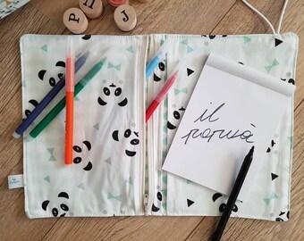 Color card holder/sheets various handmade fabrics with elastic/zip/Pocket