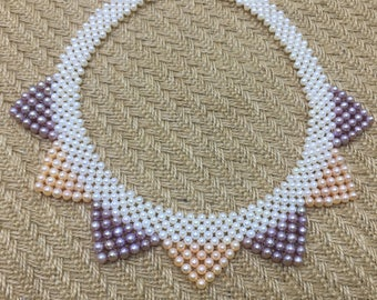 Party Pearl Necklace/Cat ear shape/Multi-layer pearl necklace