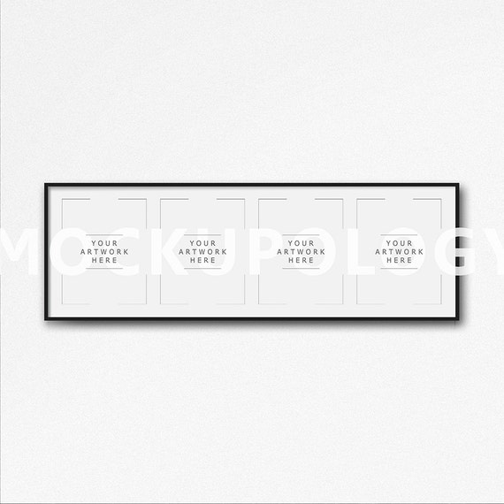 8 x 10 16 x 20 24x30 cuádruple Vertical marco negro DIGITAL