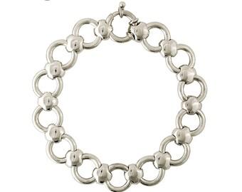 David Jonns Sterling Silver Cushion Link Bracelet