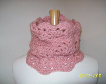 Scalloped Cowl - Lacey and Light - Custom made for you