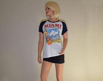 Memorial Day Sale Vintage Graphic T-shirt Miami Club Beach Resort Phillipines  Size M - GuysandDollsFashion