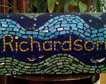 Personalized mosaic mailbox