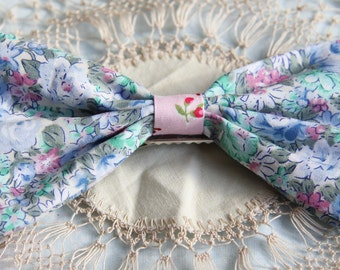 Floral Fabric Hair Bows