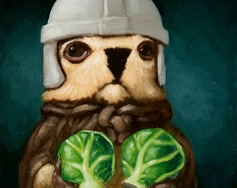Brussels Sprout Pawn - Marmot Chess Limited Edition Print