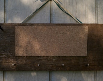 Small Rustic Bulletin Boards with key pegs