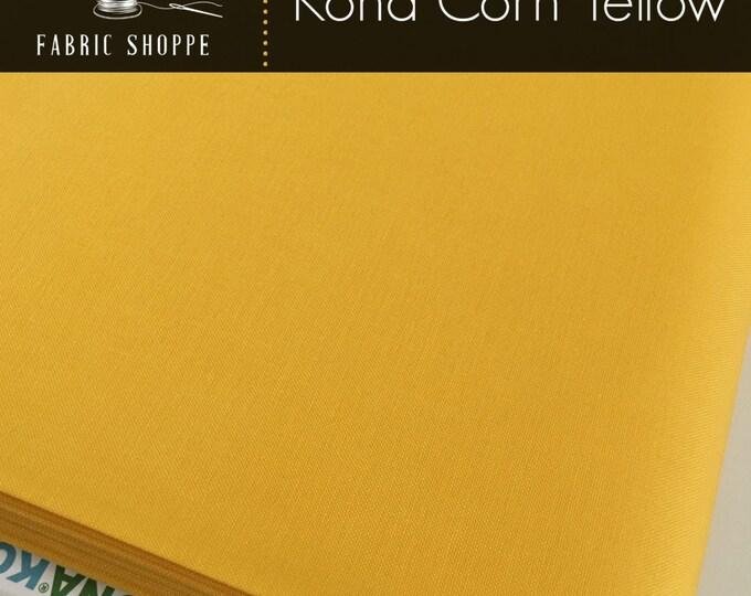 Kona cotton solid quilt fabric, Kona CORN YELLOW 1089, Kona fabric, Solid fabric Yardage, Kaufman, Yellow fabric, Choose the cut