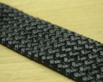 "2.75"" 70mm PU leather Wide Waistband Elastic, Elastic Trim by the Yard 61090"