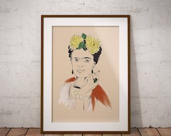 Frida Kahlo Portrait Digital Print
