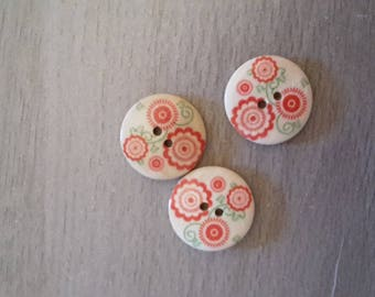 X 4 flower sewing buttons