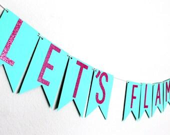 Let's Flamingle Banner - Flamingo Banner - Let's Flamingle Decor - Bachelorette Party Banner - Tropical Banner - Tropical Decor - Luau Decor