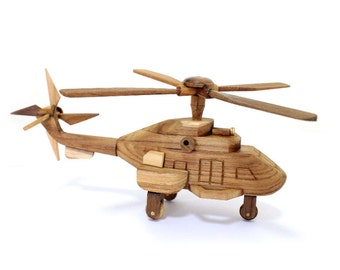 Wooden Toy Helicopter 01 in Handmade
