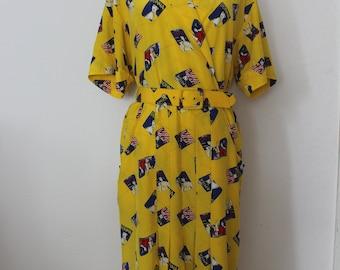 Vintage beautiful 80S POP ART dress