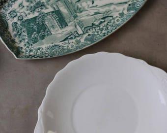 Pair Vintage Serving Plates