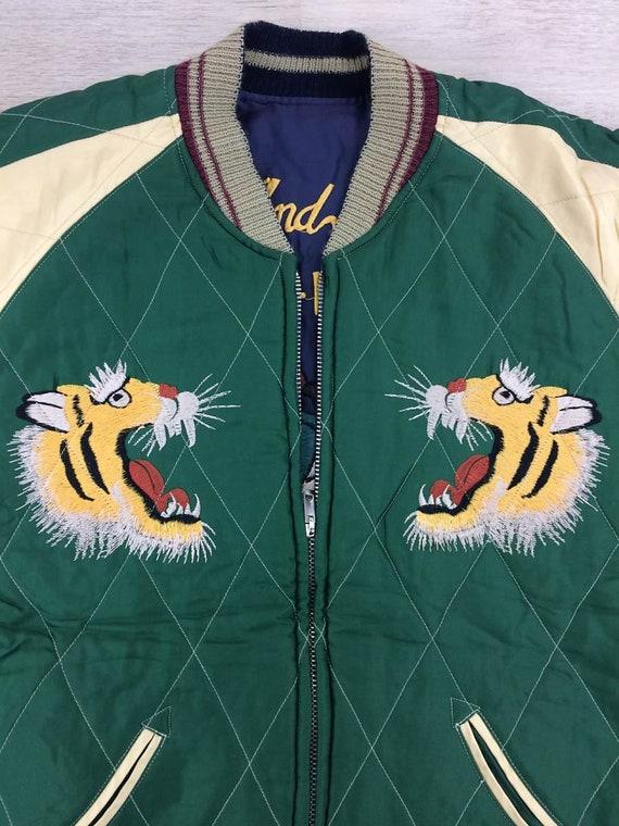Tiger Enterprise Destroy Embroidery and Souvenir Jacket Souvenir Toyo Jacket Small Yokosuka x Sukajan Search Reversible Sukajan Japan fxdvSv